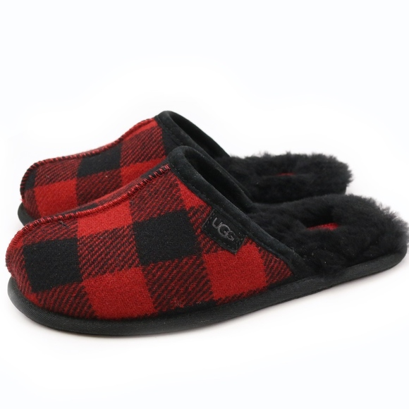 58e27a25b UGG Shoes | Scuff Plaid Woolrich Redwood Sheepskin Scuffs | Poshmark